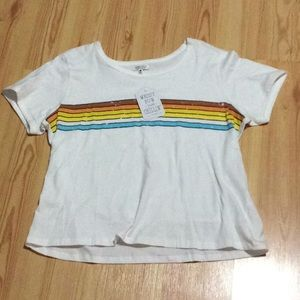 "Tops - Cute distressed ""rainbow"" t shirt NWT!"